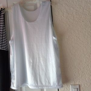 White double layered sports tank top dressy style
